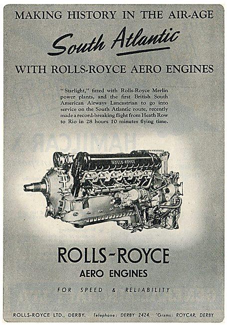 Rolls-Royce Merlin - BSAA  Lancastrian 'Starlight'