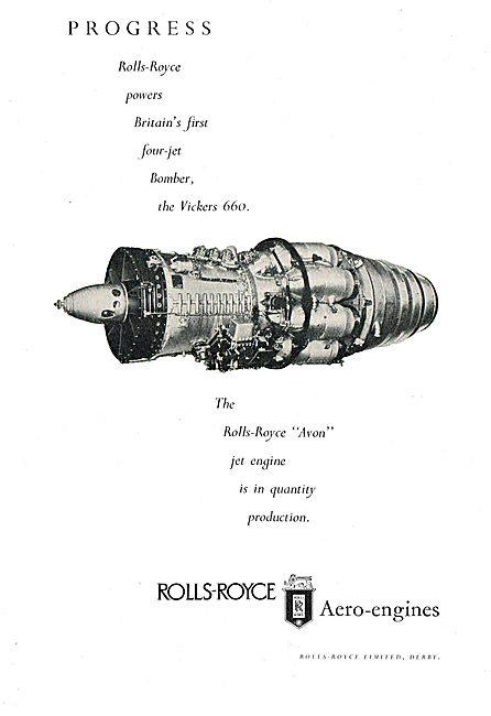 Rolls-Royce Avon Powers The Vickers 660 Jet Bomber