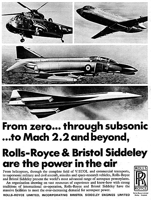 Rolls-Royce Bristol Siddeley Range Of Aero Engines 1967