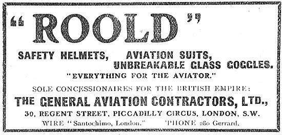 Roold Aviators Clothing: Concession General Aircraft Contractors