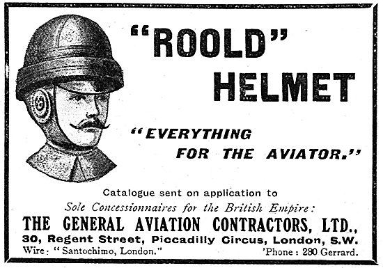 Roold Safety Helmets For Aviators. GAC