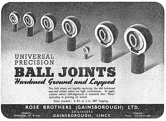 Rose Brothers Precision Ball Joints