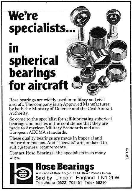 Rose Spherical Aircraft Bearings