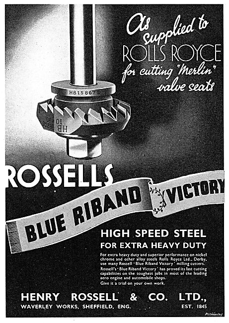Henry Rossell & Co - Manufacturers Of Machine Tools