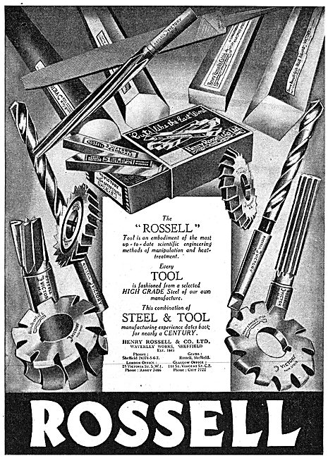 Rossell Machine Tools 1943 Advert