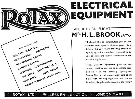 Rotax Electrical Equipment For Aircraft