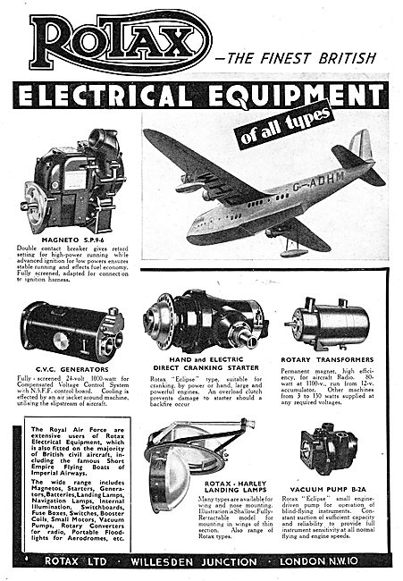 Rotax Electrical Components For Aircraft