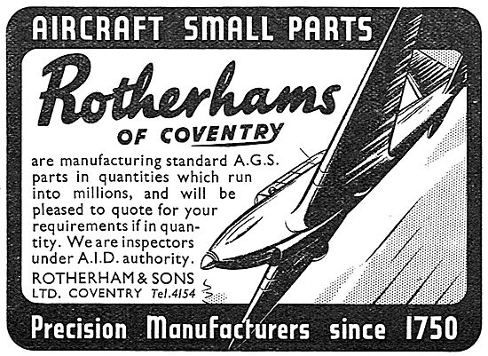 Rotherhams Of Coventry : Manufacturers Of Aircraft Parts - AGS