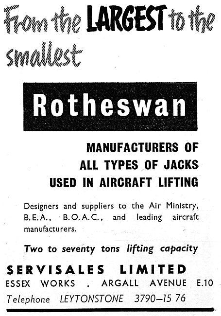 Rotheswan Aircraft Servicing Jacks : Servisales