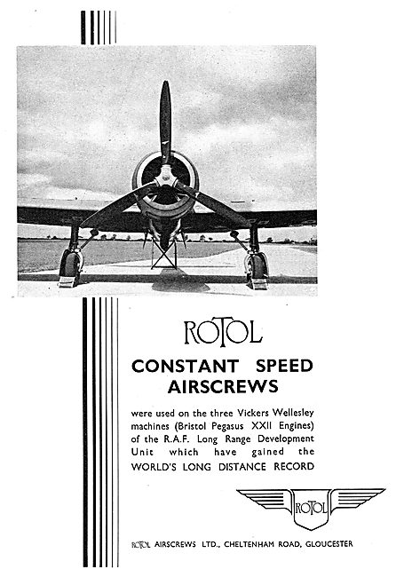 Rotol Propellers. Rotol Constant Speed Airscrews