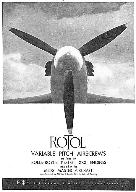 Rotol Propellers 1939