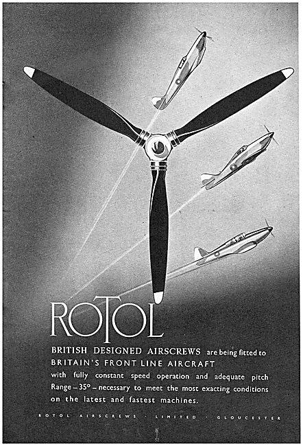 Rotol Variable Pitch Airscrews - Rotol Propellers