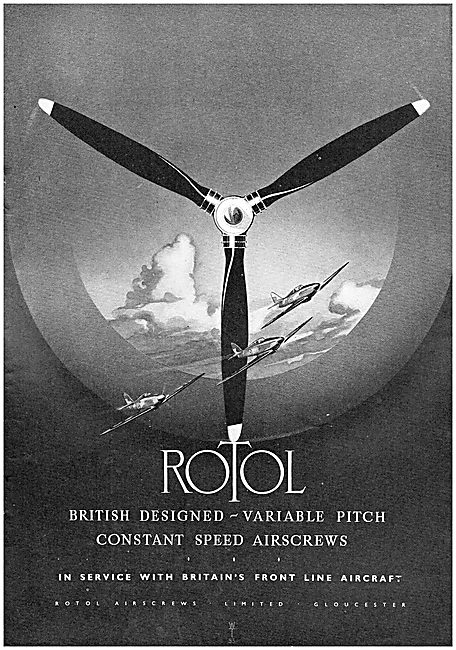 Rotol Constant Speed  Airscrews - Rotol Propellers