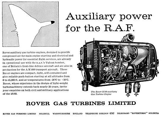 Rover 1S/60 Gas Turbine APU