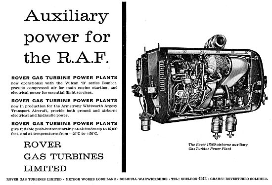 Rover Gas Turbines - Auxiliary Power For The RAF Vulcan