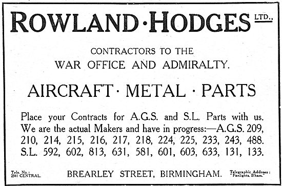 Rowland Hodges Ltd - Manufacturers Of AGS & Metal Parts