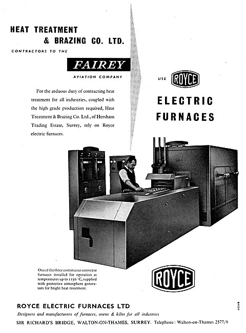 Royce Electric Furnaces - Heat Treatment & Brazing Co