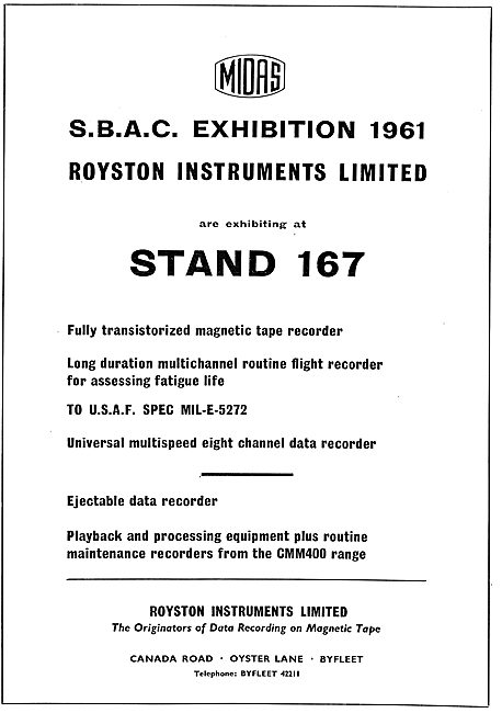 Royston Instruments Fatigue Life Flight data Recorder
