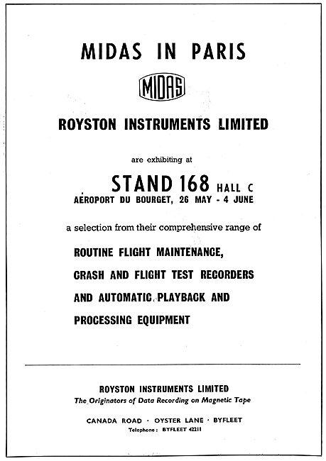 Royston Instruments Flight Data Recorders - MIDAS