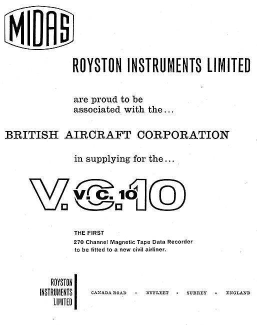 Royston Instruments Fatigue Life & Flight Data Recorders