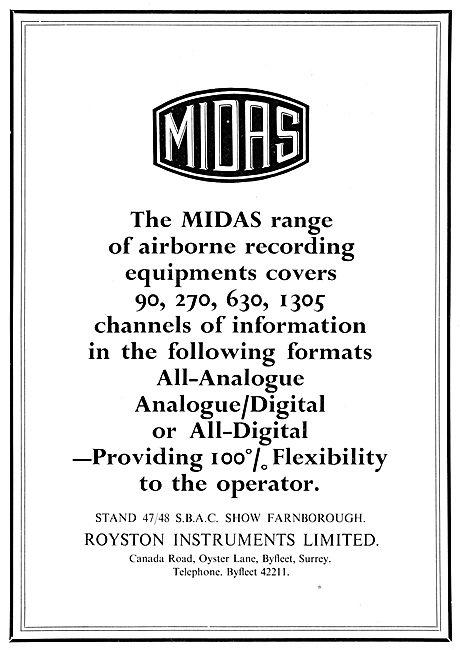Royston MIDAS Recording System. Flight Data Recorders. FDR