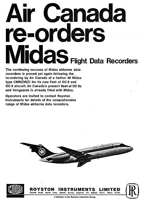 Royston Maintenance & MIDAS Flight Data Crash Recorders