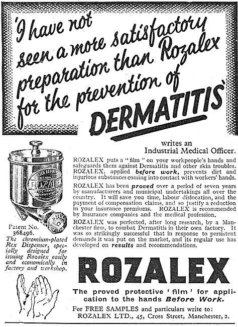 Rozalex Barrier Cream For Workshops - Prevent Dermatitis