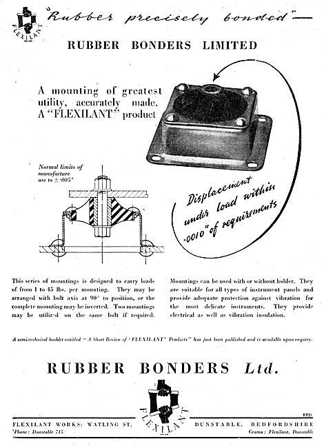 Rubber Bonders. Dunstable. Flexilant Rubber Mertal Mountings 1942
