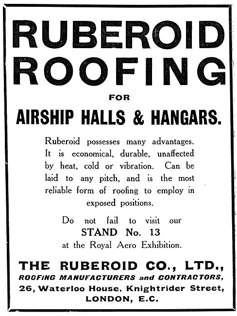Ruberoid Roofing For Hangars