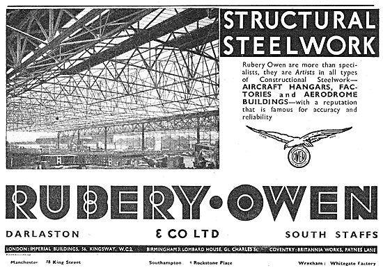 Rubery Owen Structural Steelwork For Aircraft Hangars
