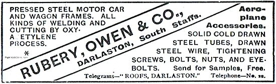 Rubery Owen Aeroplane Accessories