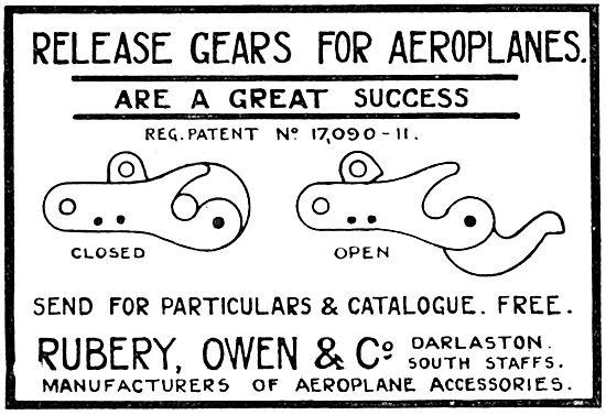 Rubery Owen AGS, Release Gear For Aeroplanes