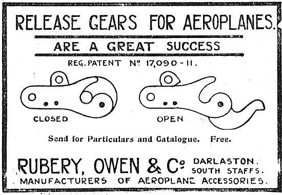 Rubery Owen Release Gears For Aeroplanes