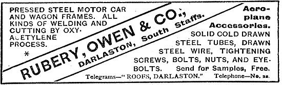 Rubery Owen Pressed Steel Components For Aeroplanes
