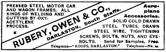 Rubery Owen Pressed Steel Aeroplane Accessories