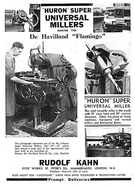 Rudolf Kahn Machine Tools. Huron Super Universal Miller 1939