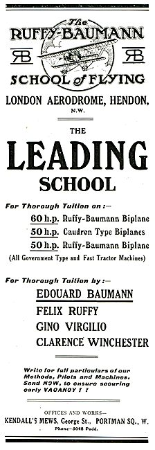 Ruffy-Baumann School Of Flying Hendon
