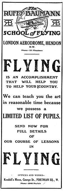 Ruffy-Baumann School Of Flying Hendon
