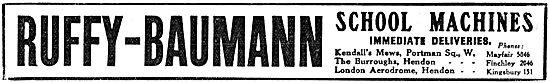Ruffy-Baumann School Machines - 1917 Advert