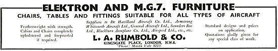 Rumbold Elektron and MG7 Furniture