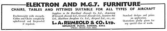 Rumbold Elektron & MG7 Aircraft Cabin Furniture