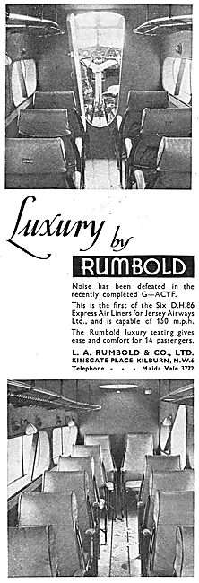 Rumbold Aircraft Seating - Jersey Airways DH86