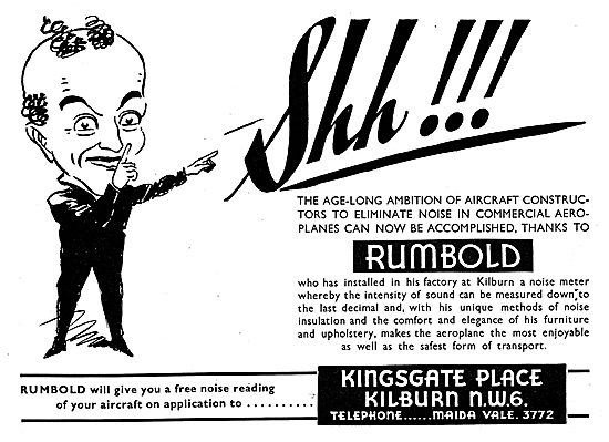 Rumbold Aircraft Seating - Kilburn Noise Meter Test