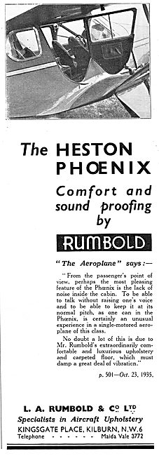 Rumbold Aircraft Seating - Heston Phoenix