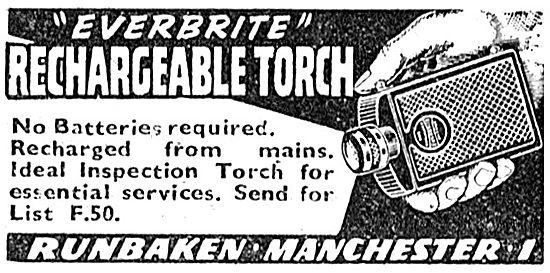 Runbaken Everbrite Rechargeable Torch 1943