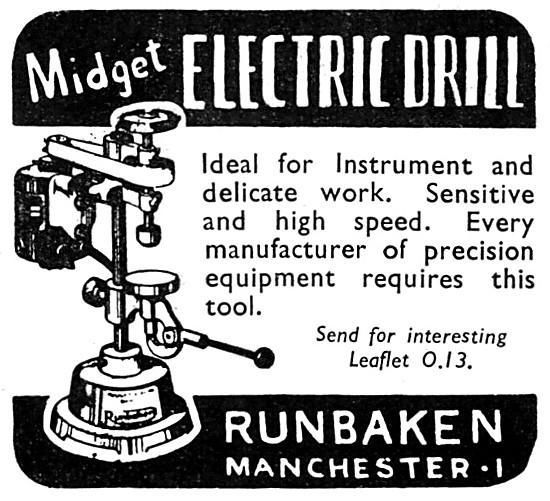 Runbaken Electrical Engraving Tools - Runbaken Midget Electric Dr
