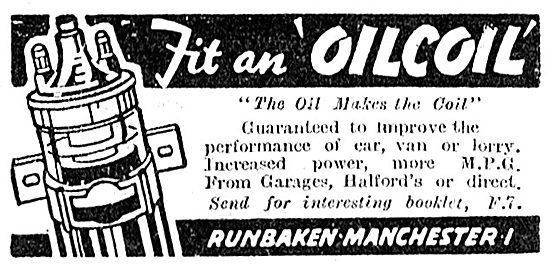 Runbaken Motor Car Oil Filled Coil. OilCoil   1949