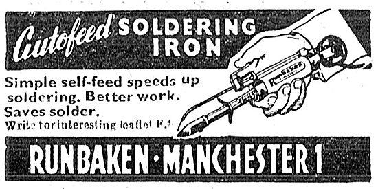 Runbaken Autofeed Soldering Iron - 1949