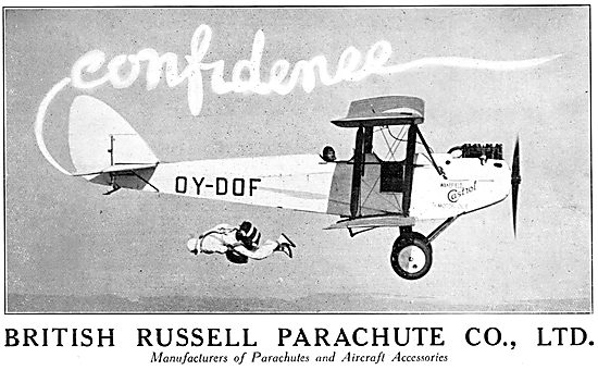 British Russell Parachutes 1929 Advert