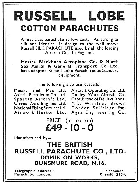 Russell Lobe Cotton Parachutes